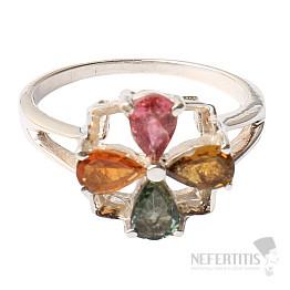 Turmalín prsten stříbro Ag 925 R382