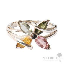 Turmalín prsten stříbro Ag 925 R430