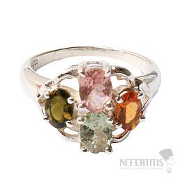 Turmalín prsten stříbro Ag 925 R440