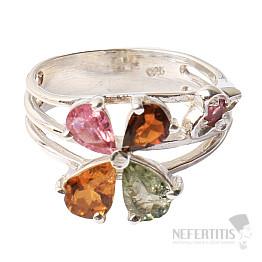 Turmalín prsten stříbro Ag 925 R742