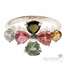 Turmalín prsten stříbro Ag 925 R390