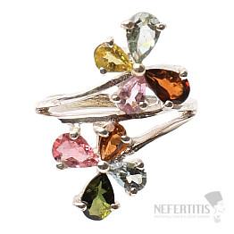 Turmalín prsten stříbro Ag 925 R479