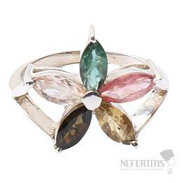 Turmalín prsten stříbro Ag 925 R501