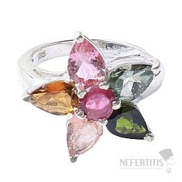 Turmalín prsten stříbro Ag 925 R859