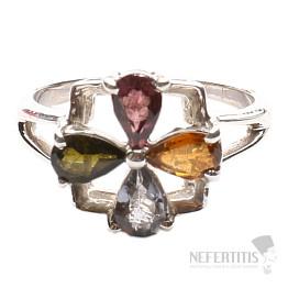 Turmalín prsten stříbro Ag 925 TR122