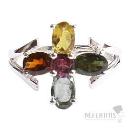 Turmalín prsten stříbro Ag 925 TR138