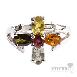 Turmalín prsten stříbro Ag 925 TR165