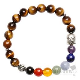 Čakrový náramek tygří oko buddhistický