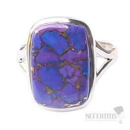Tyrkys přírodní purpurový prsten stříbro Ag 925 R1702