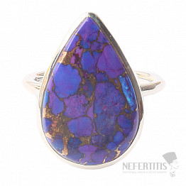 Tyrkys přírodní purpurový prsten stříbro Ag 925 R1703