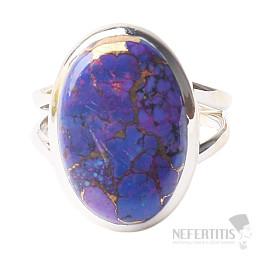 Tyrkys přírodní purpurový prsten stříbro Ag 925 R1741