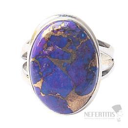 Tyrkys přírodní purpurový prsten stříbro Ag 925 R1753