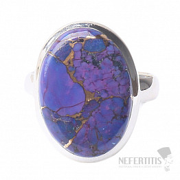 Tyrkys přírodní purpurový prsten stříbro Ag 925 R1760