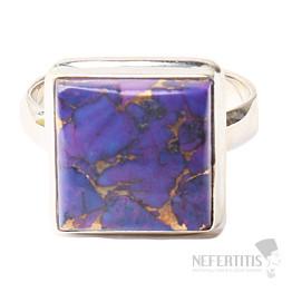 Tyrkys přírodní purpurový prsten stříbro Ag 925 R1766