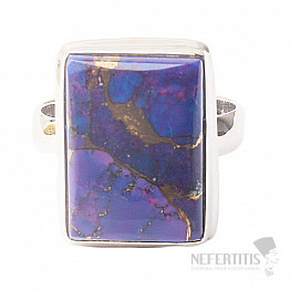 Tyrkys přírodní purpurový prsten stříbro Ag 925 R1782
