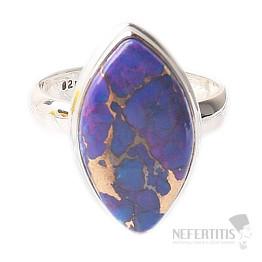 Tyrkys přírodní purpurový prsten stříbro Ag 925 R1791