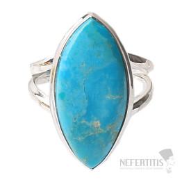 Tyrkys přírodní Mohave prsten stříbro Ag 925 R675