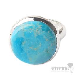 Tyrkys přírodní Mohave prsten stříbro Ag 925 R683