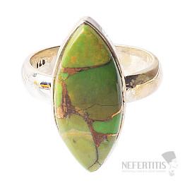Tyrkys zelený prsten stříbro Ag 925 R1033