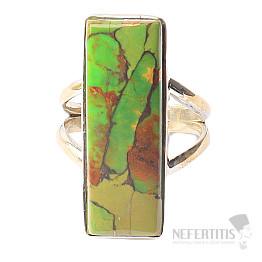 Tyrkys zelený prsten stříbro Ag 925 R1054
