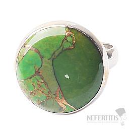 Tyrkys zelený prsten stříbro Ag 925 R1058