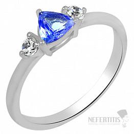 Tanzanit prsten stříbro TZR1010 Ag 925