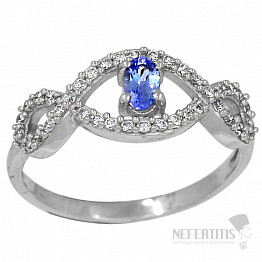 Tanzanit prsten stříbro TZR1014 Ag 925