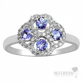 Tanzanit prsten stříbro TZR1042 Ag 925