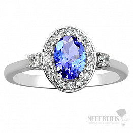 Tanzanit prsten stříbro TZR1072  Ag 925