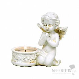 Andělíček se stojánkem na čajovou svíčku