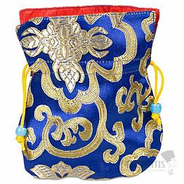 Brokátový sáček modrý
