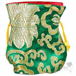 Brokátový sáček zelený