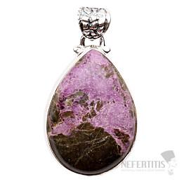 Variscit v purpuritu přívěsek stříbro Ag 925 P258