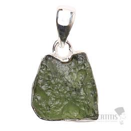 Vltavín přívěsek stříbro Ag 925 P1228