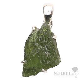 Vltavín přívěsek stříbro Ag 925 P1342
