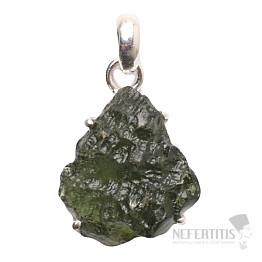 Vltavín přívěsek stříbro Ag 925 P1416