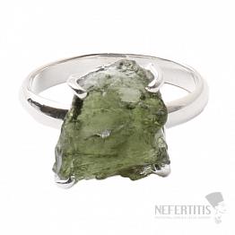 Vltavín prsten stříbro Ag 925 R1005