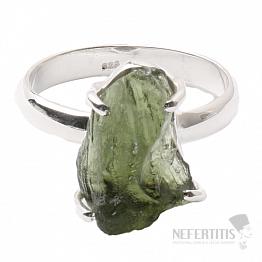 Vltavín prsten stříbro Ag 925 R1029