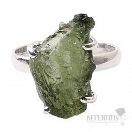 Vltavín prsten stříbro Ag 925 R1057