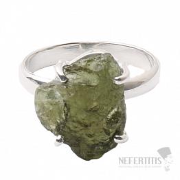 Vltavín prsten stříbro Ag 925 R1073