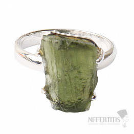 Vltavín prsten stříbro Ag 925 R1222