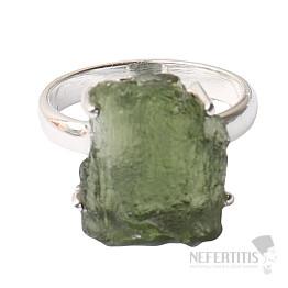 Vltavín prsten stříbro Ag 925 R1229