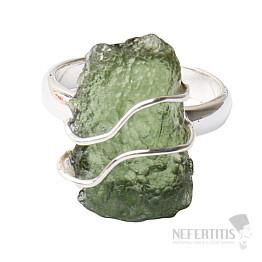 Vltavín prsten stříbro Ag 925 R1269