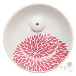 Stojánek na vonné tyčinky porcelán Yukari chryzantéma