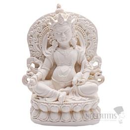 Zambala bílý soška boha bohatsví a prosperity