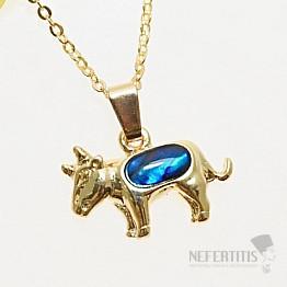 Znamení Býk přívěsek zlatá barva
