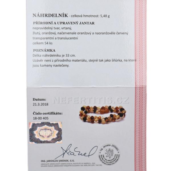 25c109d3e Cerrtifikát pravosti Jantarové korálky kulaté pro děti leštěné multicolor  W21185_1